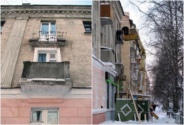 Ул. Октябрьская, 5.12.2010, ремонт балконов?  Ухта