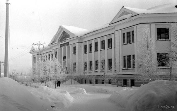1968г. Железнодорожный техникум. Фото Белых В.А.  Ухта