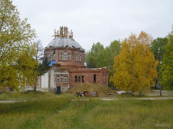 Начало строительства церкви Разное Ухта
