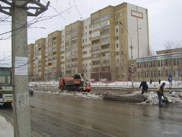 Уборка снега. пр. Ленина. 30.03.2009г.  Ухта