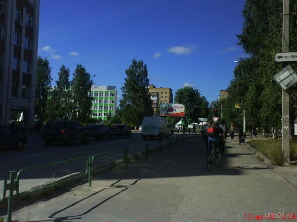 летний день Улицы города Ухта