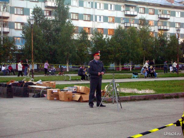 40 лет Севергазпрому, Комсомольская площадь, подготовка к празднику  Ухта