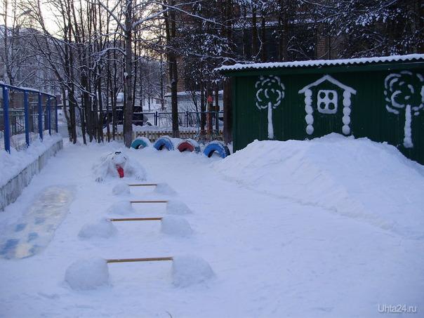 """Д/с №2 """"Теремок"""". Снежные постройки по одноименной сказке. Разное Ухта"""