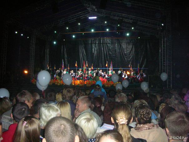 40 лет Севергазпрому, Комсомольская площадь, праздничный концерт Мероприятия Ухта