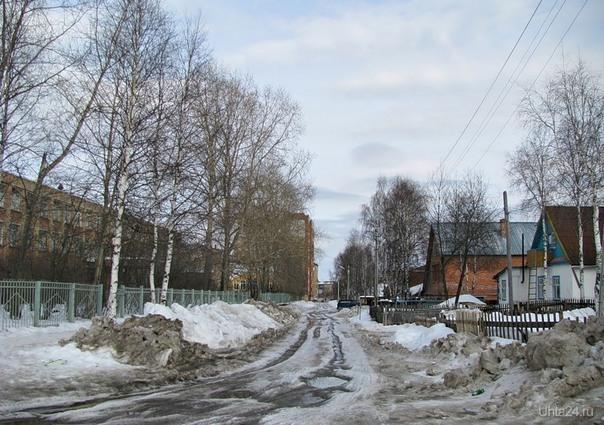 улица гоголя. весенняя непроходимость Улицы города Ухта