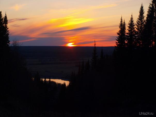1 мая. На такой закат я бы смотрела вечно... Природа Ухты и Коми Ухта