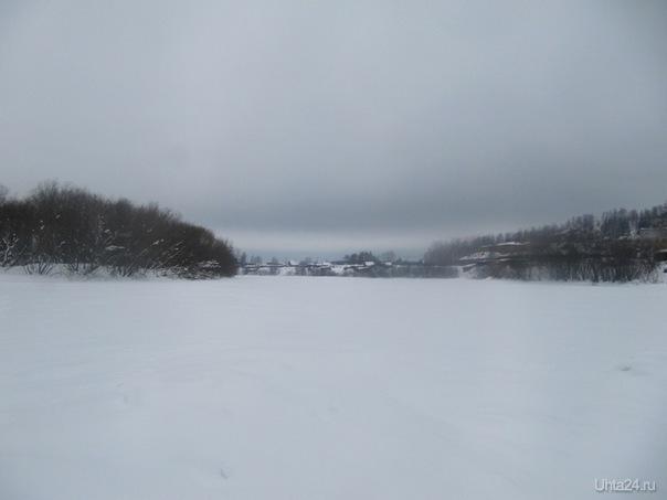 Речка зимой Природа Ухты и Коми Ухта