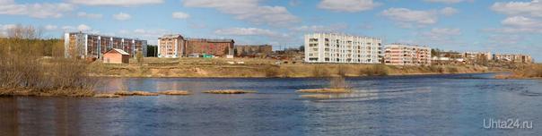 Вид на Шудаяг с р.Ухта Улицы города Ухта