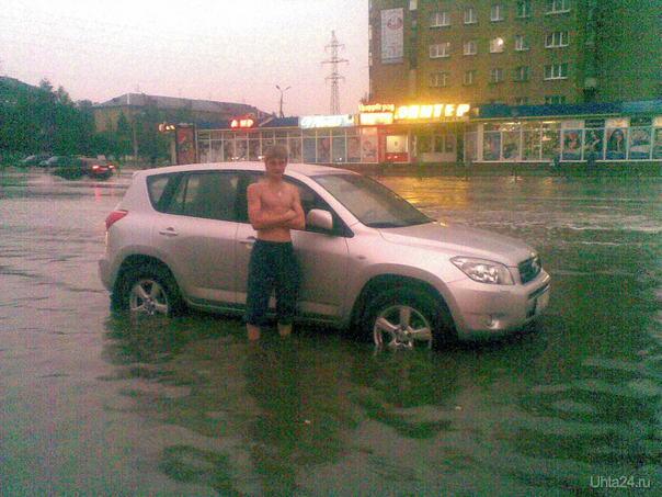 После дождя. июль 2010 Улицы города Ухта