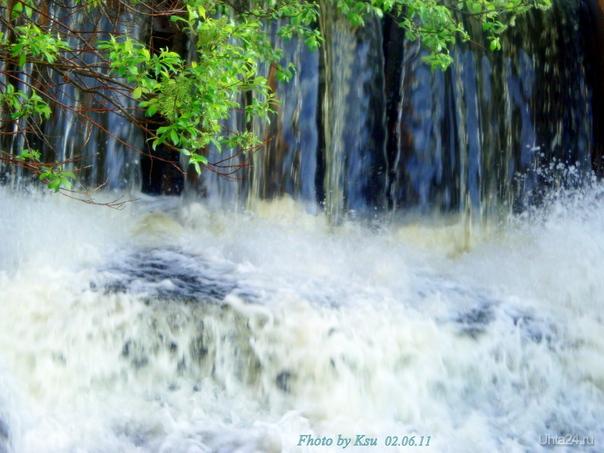 водопад на озерном Природа Ухты и Коми Ухта