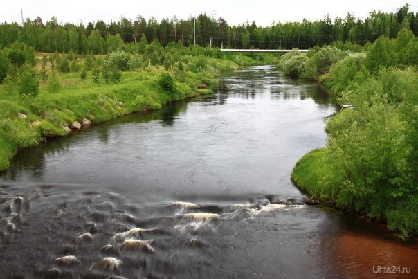 Ропча. Газопровод по дну реки. Природа Ухты и Коми Ухта