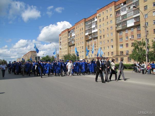 Праздничное шествие выпускников УГТУ, МИБИ - 19.06.2011 г. Мероприятия Ухта
