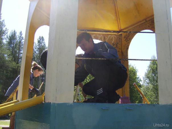 Участники субботника в Детском парке 9.07.2011г. Мероприятия Ухта