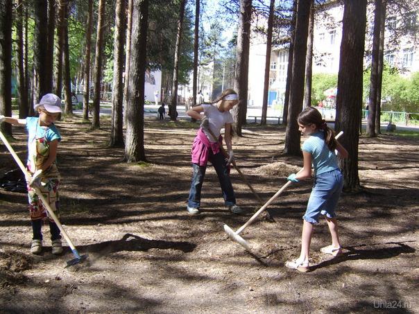 Участницы субботника в Детском парке 9.07.2011г. Мероприятия Ухта