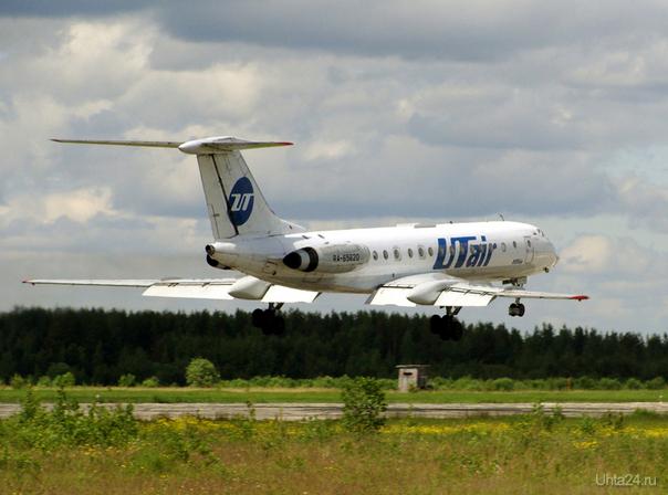 Посадка Ту-134А-3 в Аэропорту г.Ухта АЭРОПОРТ Ухта