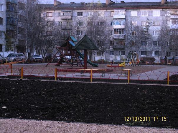 Детская площадка на ул.Юбилейной  Ухта