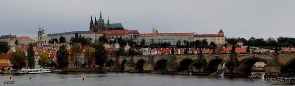 Чехия,г.Прага, вид на Карлов мост. Прага - красивый город, и Карлов мост - одна из достопримечательностей города.  Ухта