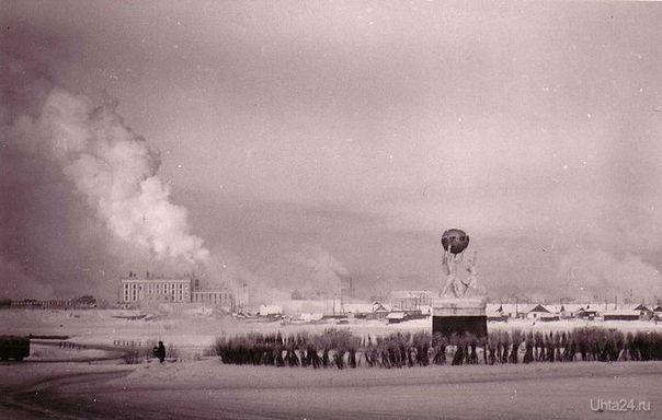 Площадь Мира. 1970 г. Автор фото неизвестен.  Ухта