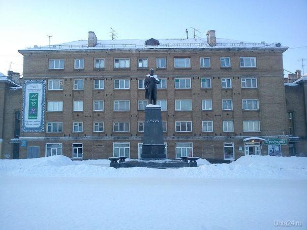 Первомайская площадь и памятник В.И. Ленину. 2012 г.  Ухта