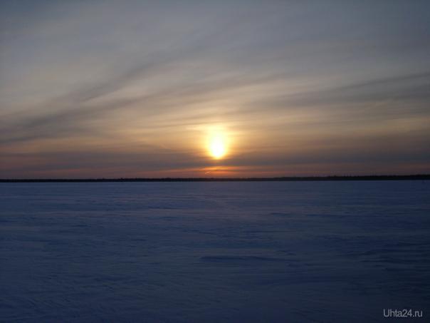 Закат на болоте Природа Ухты и Коми Ухта