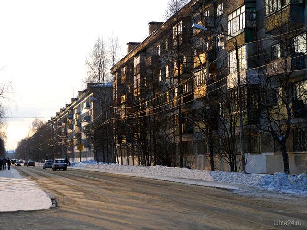 Улица Чибьюская. 2012 г. Улицы города Ухта