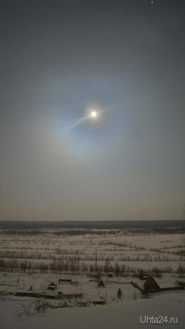 Лунная ночь Природа Ухты и Коми Ухта