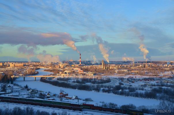 Мороз и Солнце -день чудесный! Улицы города Ухта