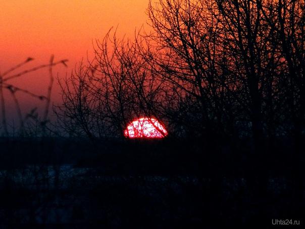 Весенний закат  Ухта
