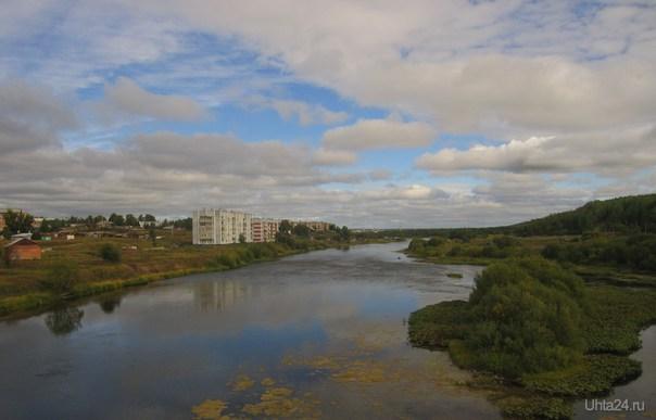 Северные красоты. Снимок сделан с моста в поселке Шуда-Яг.  Природа Ухты и Коми Ухта
