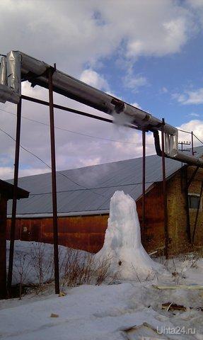 Ростет не только цена на коммуналку, но и ледяной сталагмит на базе в рабочем поселке.... г.Ухта Природа Ухты и Коми Ухта
