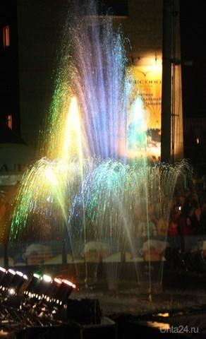 Шоу-фонтанов «Водная феерия». 80-летие Ухты Мероприятия Ухта