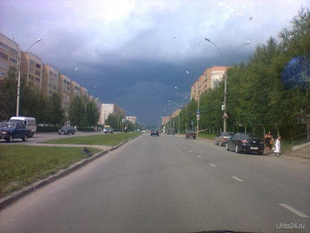 Перед дождем Улицы города Ухта