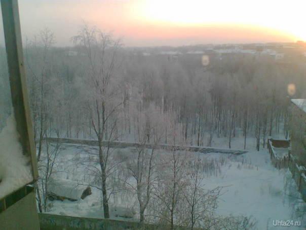 зима - 40 парк Улицы города Ухта