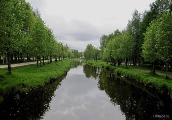 В парке культуры и отдыха. Улицы города Ухта