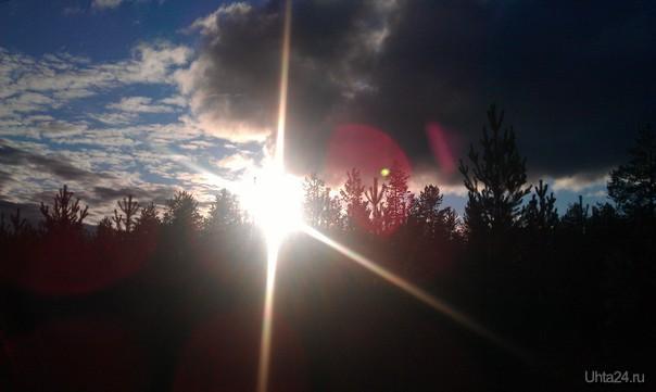 Закат,природа  Ухта
