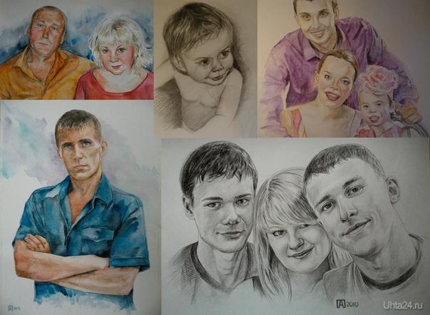 Рисуем на заказ (Ухта-Сосногорск) 89048662660 vk.com/portret_yxta  Ухта