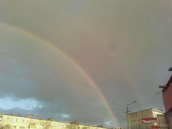 Правда красиво две радуги в месте. Природа Ухты и Коми Ухта