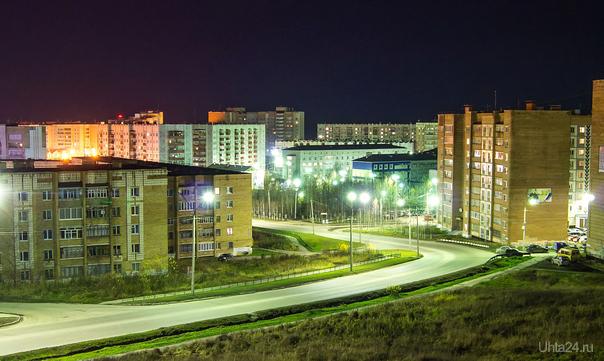 Ночной город Улицы города Ухта