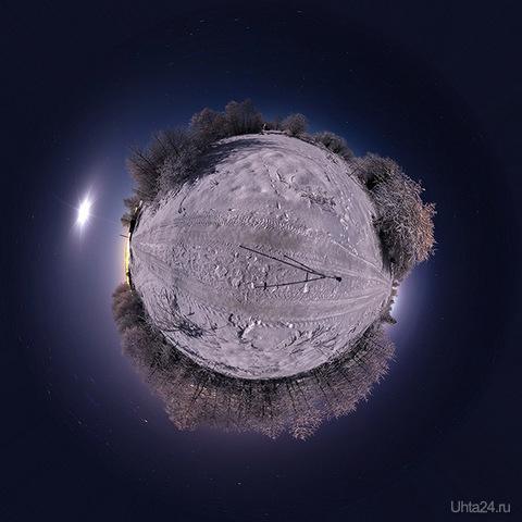 Панорама с Земляничной.    Природа Ухты и Коми Ухта