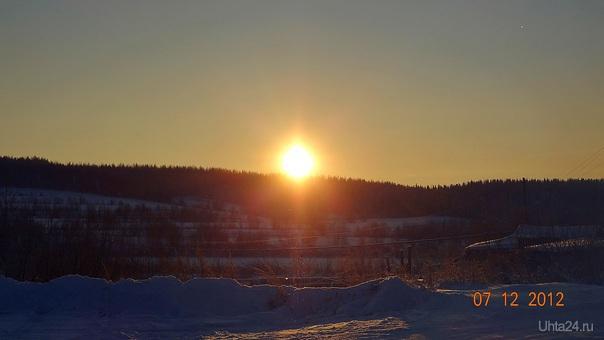 Зимний полдень...  Ухта