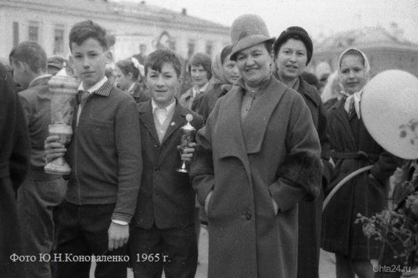 1964-1965 годы. На демонстрации  Ухта