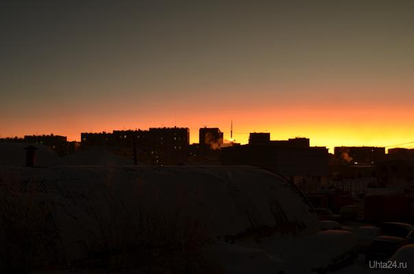 редкий закат Разное Ухта