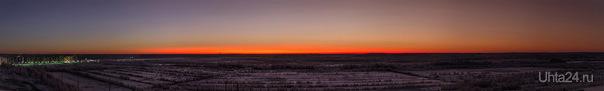 Панорама Заката 17.12.12 Природа Ухты и Коми Ухта