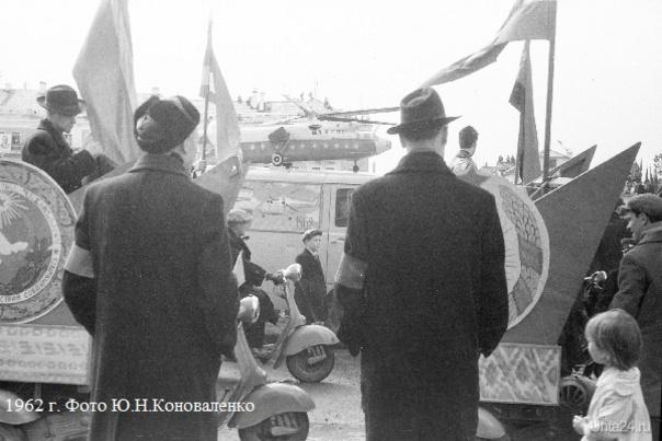 1962 г. Демонстрация.  Ухта