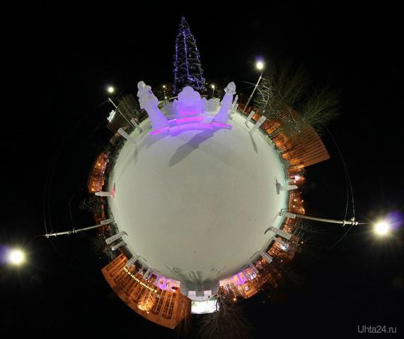 Ледяной городок. Трон Улицы города Ухта