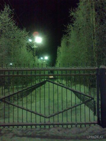 Сквер во дворе ЦОКа Улицы города Ухта