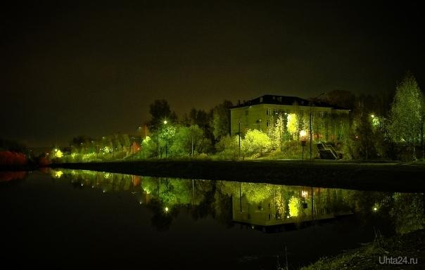 Вечером красиво в парке Улицы города Ухта
