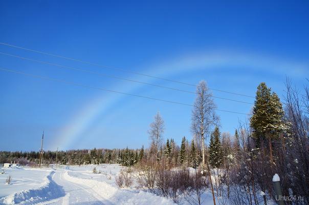 Зимняя радуга. Природа Ухты и Коми Ухта