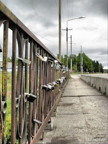 Зерюнова пр-т, мост через р.Чибью, 2008 г. Улицы города Ухта
