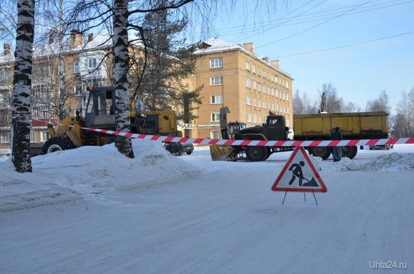 """Фото к новости """"Ухта избавляется от снежного покрова""""  Ухта"""